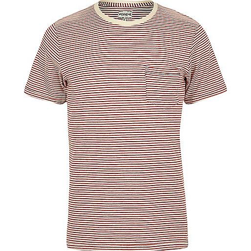 Jack & Jones – Vintage-T-Shirt mit roten Streifen
