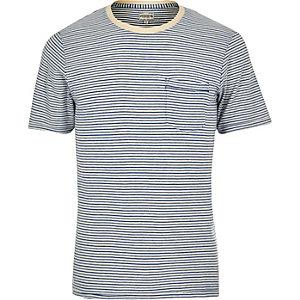 Jack & Jones Vintage – Blaues, gestreiftes T-Shirt