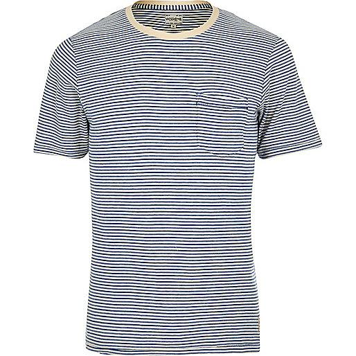Blue stripe Jack & Jones Vintage T-shirt