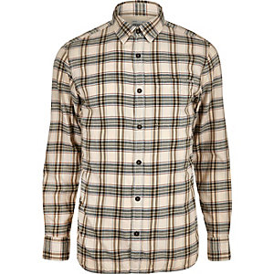 Ecru Jack & Jones Vintage Maywood check shirt