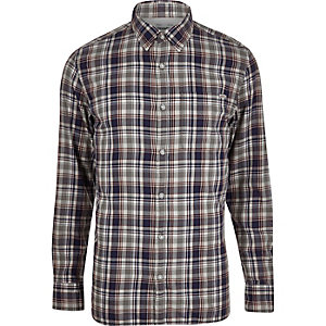 Navy Jack & Jones Vintage Maywood check shirt