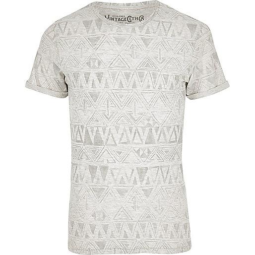 White Jack & Jones Vintage pattern T-shirt