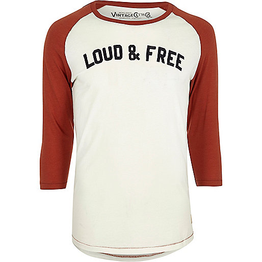 T-shirt Jack & Jones blanc à manches raglan