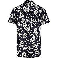 Navy Jack & Jones Vintage floral print shirt