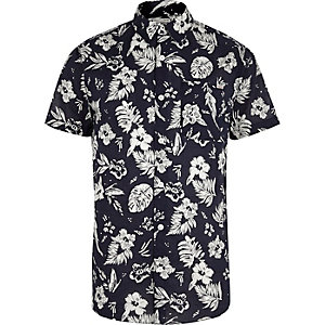 Navy Jack & Jones Vintage floral print shirt
