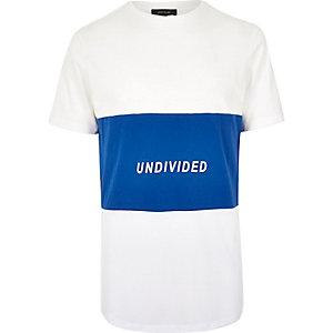 White mesh panel T-shirt