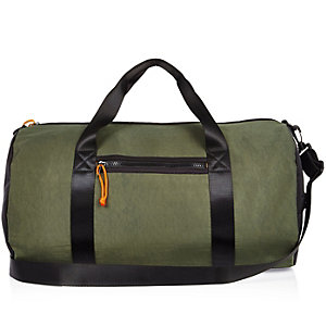 Dark green holdall bag