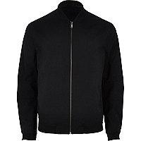 Black formal bomber jacket