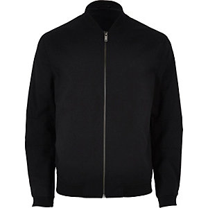 Black formal bomber jacket