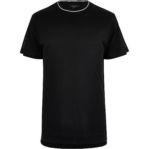T-shirt long en tulle noir
