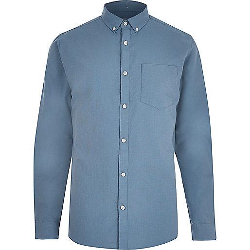 Hellblaues Oxfordhemd