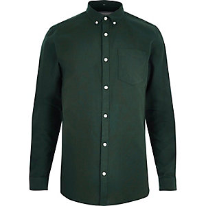 Chemise oxford vert bouteille
