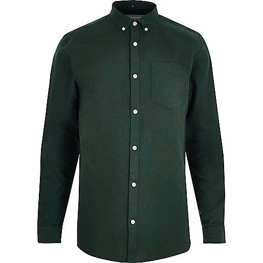 Bottle green oxford shirt