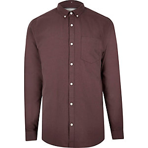 Purple casual Oxford shirt