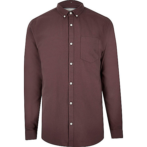 Chemise Oxford violette