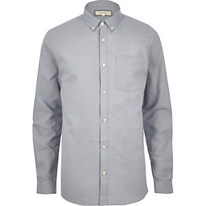 Himmelgraues Oxfordhemd