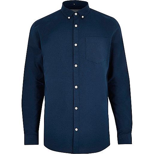 Dunkelblaues Oxford-Hemd