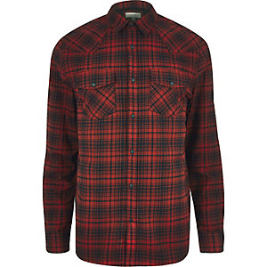 Red Western checked shirt