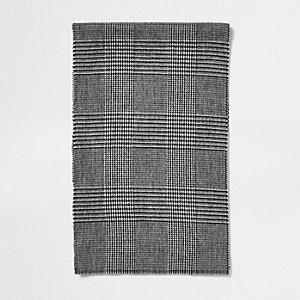 Écharpe à carreaux prince-de-galles grise