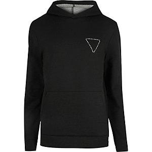 Schwarzer Triangel-Hoodie mit Muster