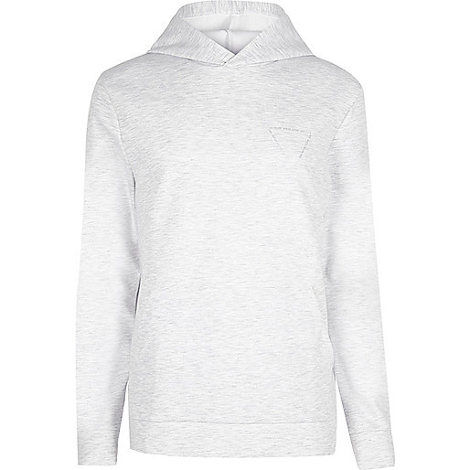Grey marl triangle print hoodie