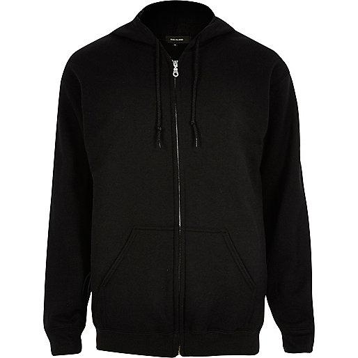 Black zip through hoodie