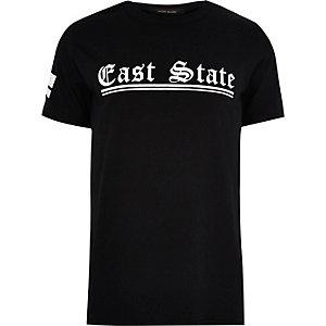 Black 'East Coast' print T-shirt