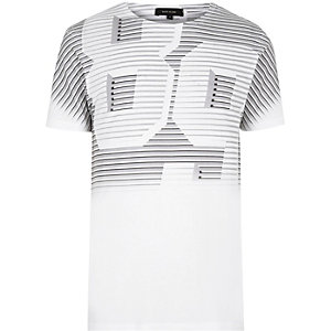 """Weißes T-Shirt mit verblichenem """"89""""-Print"""