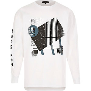 White 'New Age' print sweatshirt