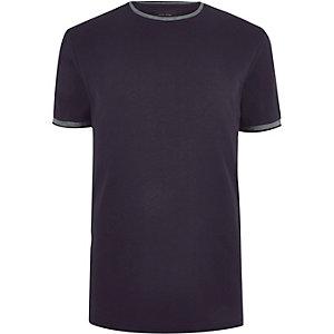 T-shirt bleu marine cintré
