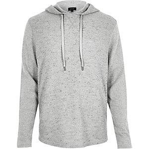 Grey waffle hoodie
