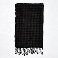 Black gingham scarf