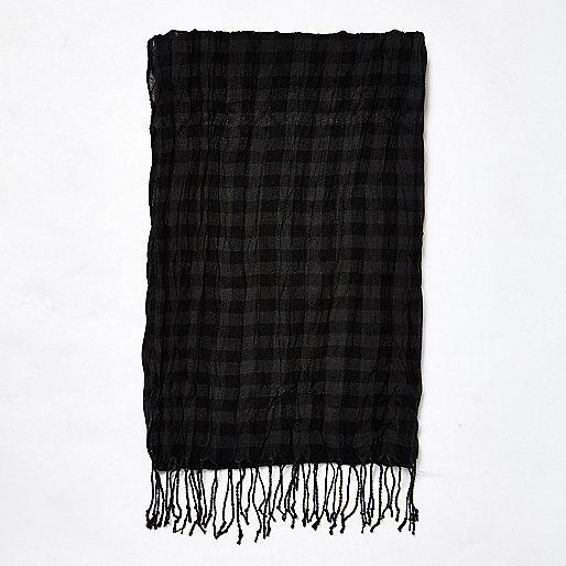 Black gingham scarf