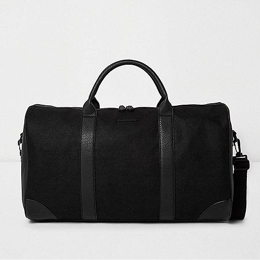 Black panel holdall bag