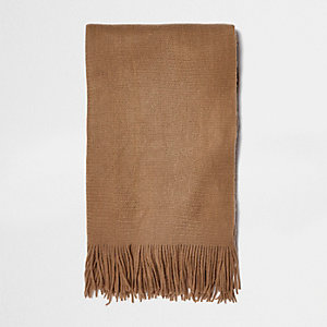 Angerauter Schal in Camel