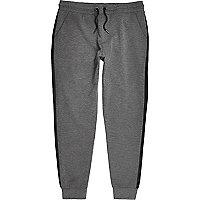 Pantalon de jogging anthracite coupé-cousu