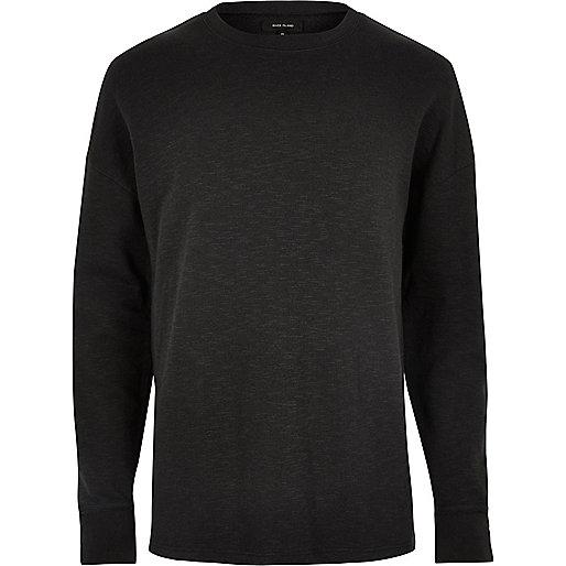 Black dropped shoulder sweatshirt