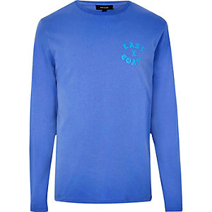Blue 'East Coast' long sleeve T-shirt