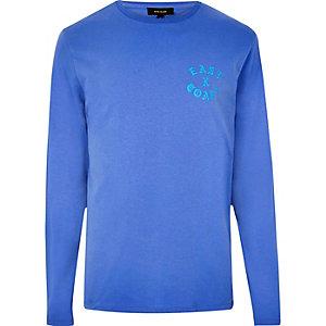 T-shirt East Coast bleu à manches longues