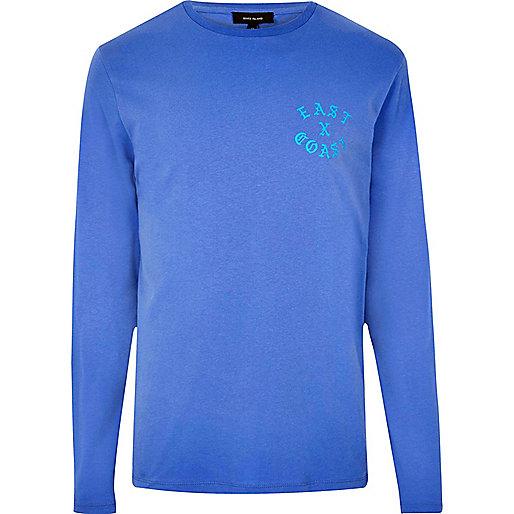 "Blaues, langärmliges T-Shirt ""East Coast"""