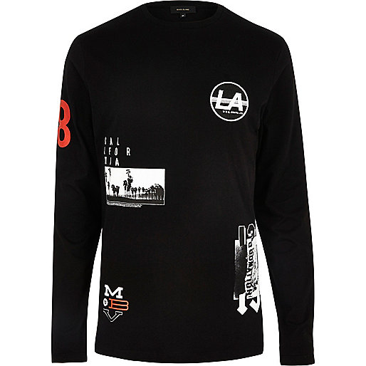 Black badge long sleeve T-shirt