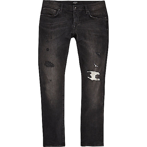 Black washed Ronnie skinny cigarette jeans