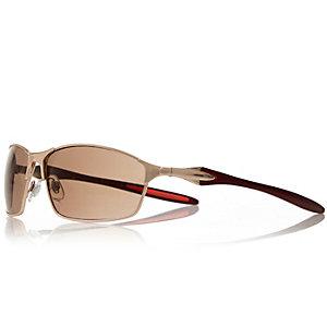 Gold matt performance sunglasses
