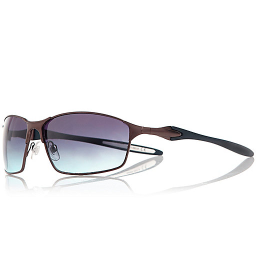 Navy matt performance sunglasses
