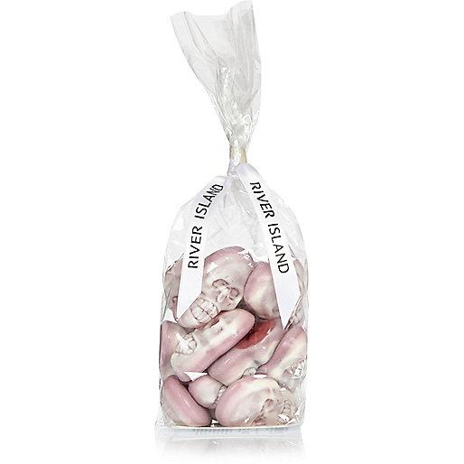 Bonbons têtes de mort roses