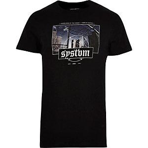 Black Systvm print T-shirt