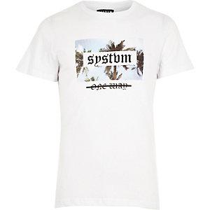 White Systvm print T-shirt