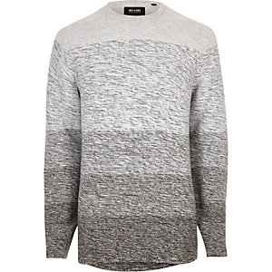 Grey Only & Sons stripe knit jumper