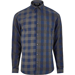 Grey Only & Sons check shirt