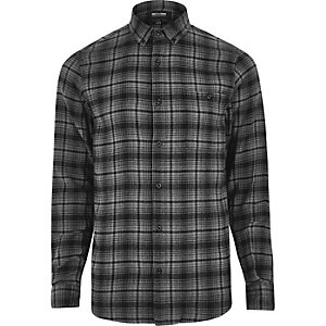 Grey Only & Sons casual check shirt